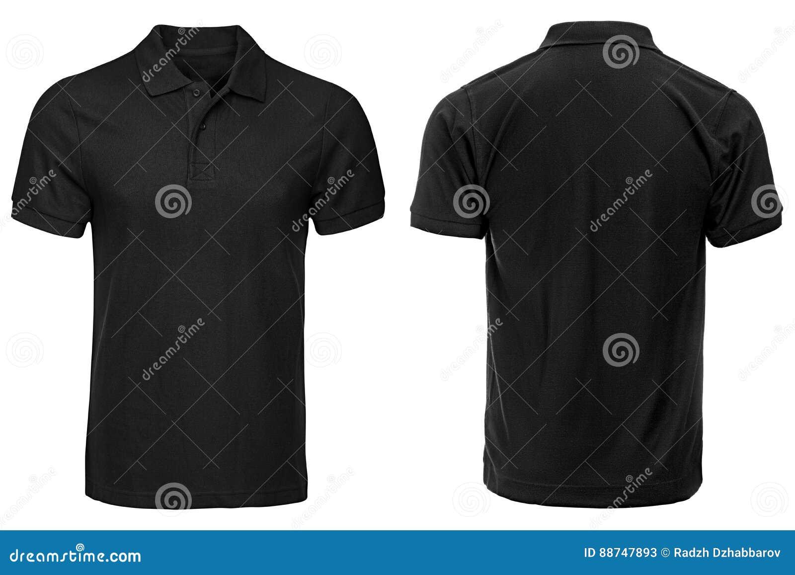 Polo noir, vêtements