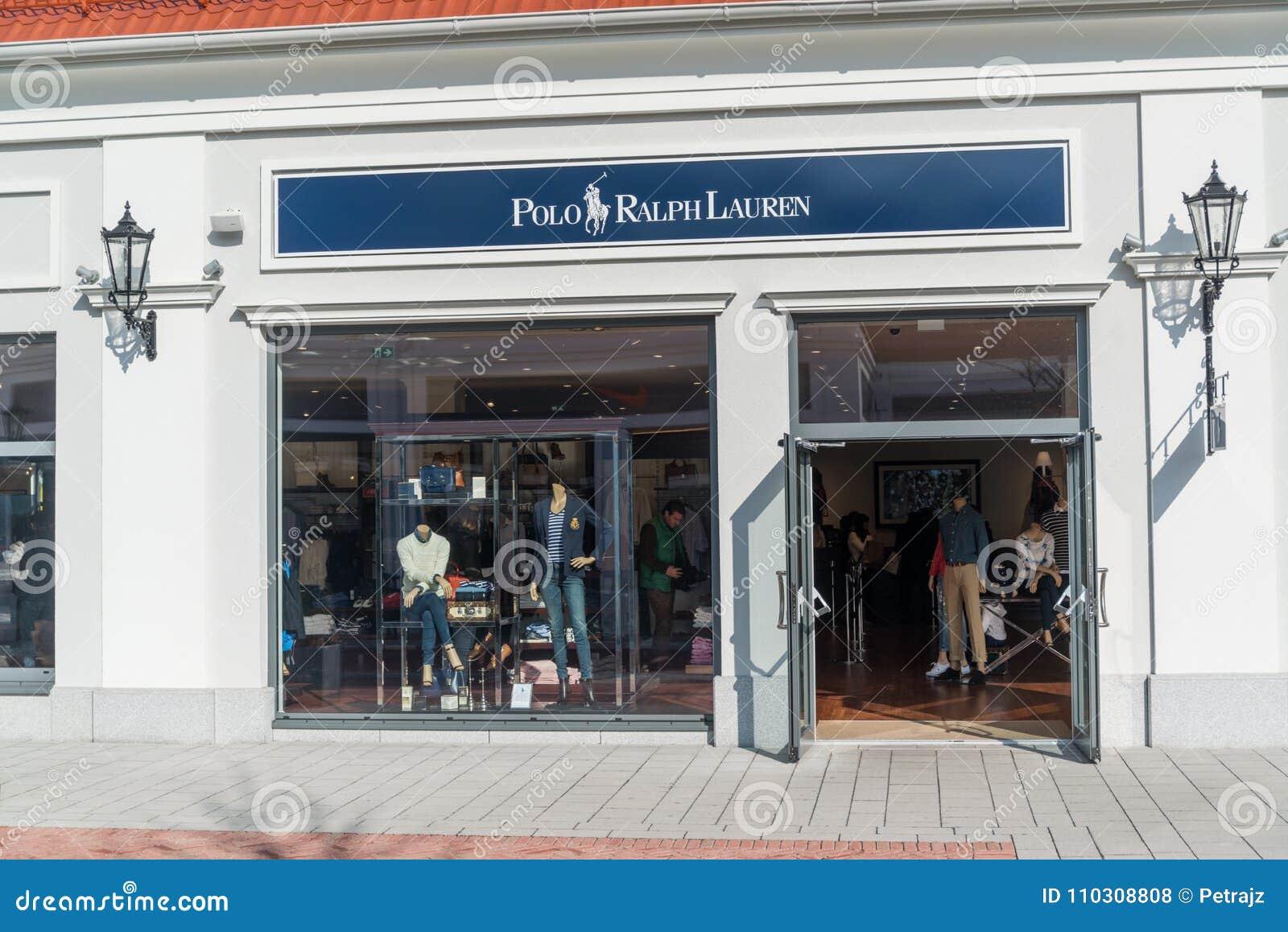 detailed look 28eaf fa7ef Polo Ralph Lauren Store In Parndorf, Austria. Editorial ...