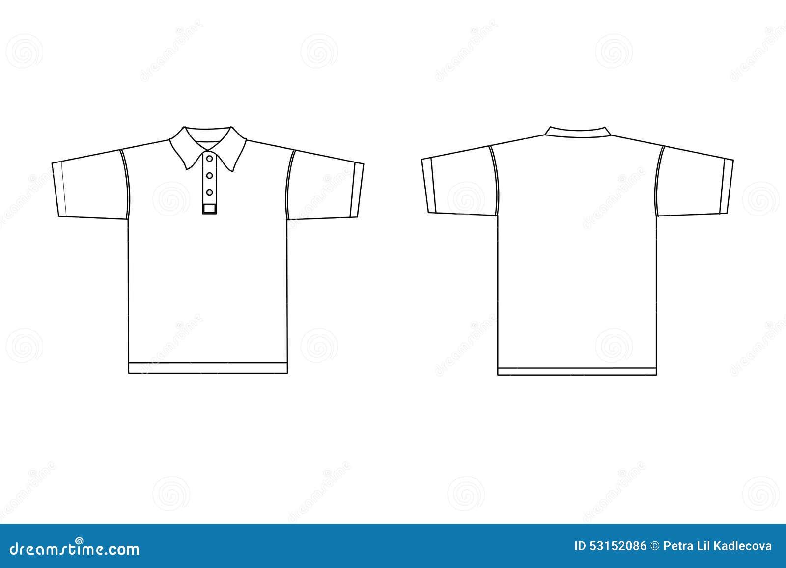 Polo shirt with collar male stock vector image 53152086 for Collar shirt design template