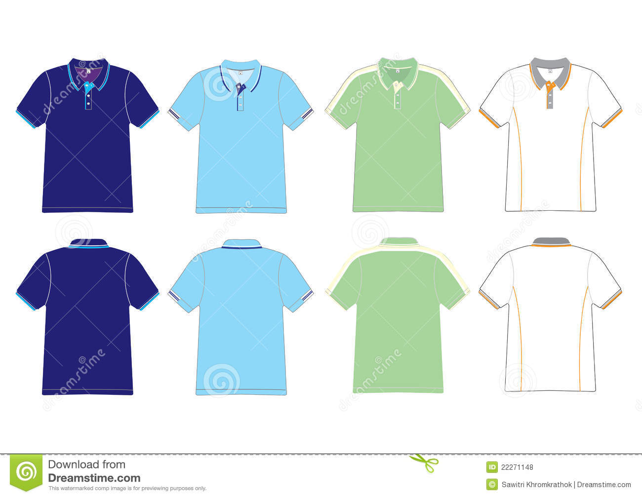 Polo Shirt Design Stock Vector Illustration Of Buttons 22271148