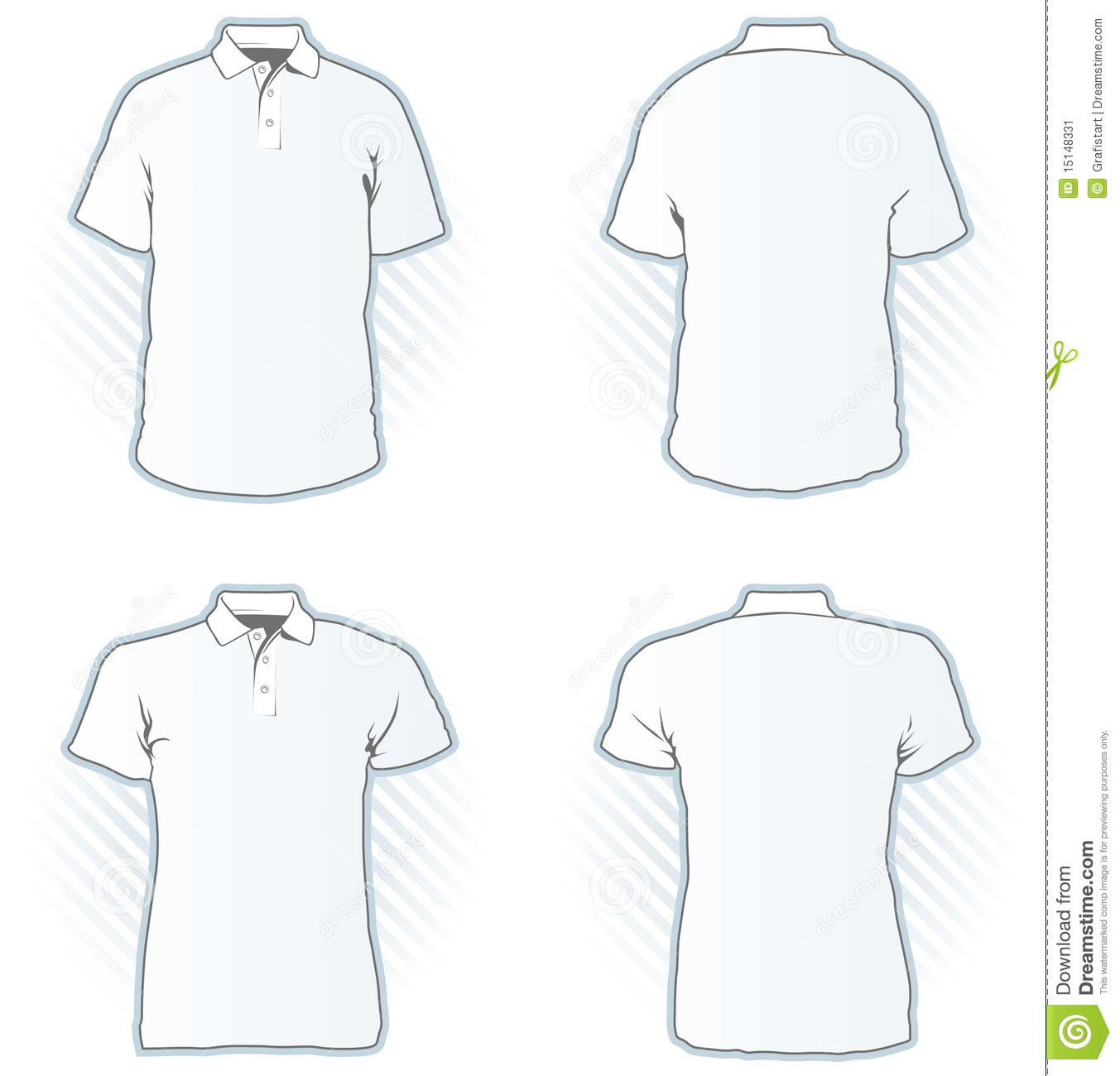 Polo shirt design template set stock vector illustration for Polo shirt design template