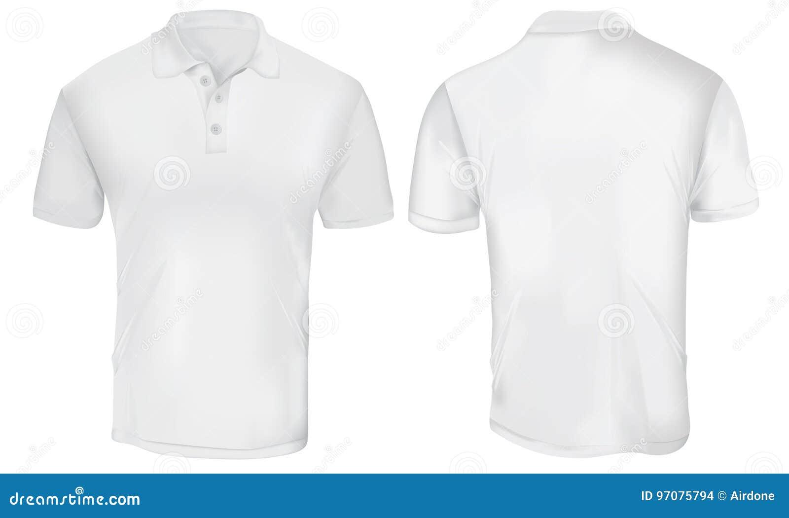 Polo Shirt Template Blanc Illustration De Vecteur Illustration Du