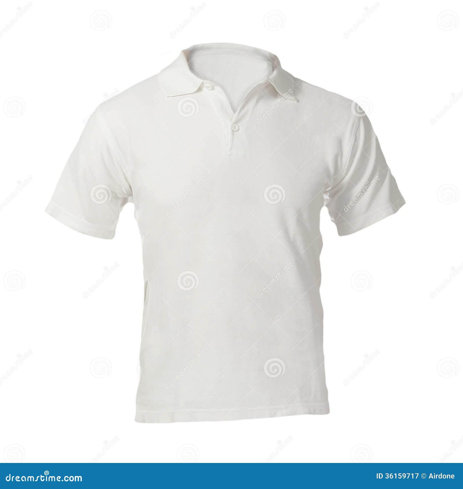 Polo Shirt Template Blanc Vide Des Hommes Image Stock Image Du