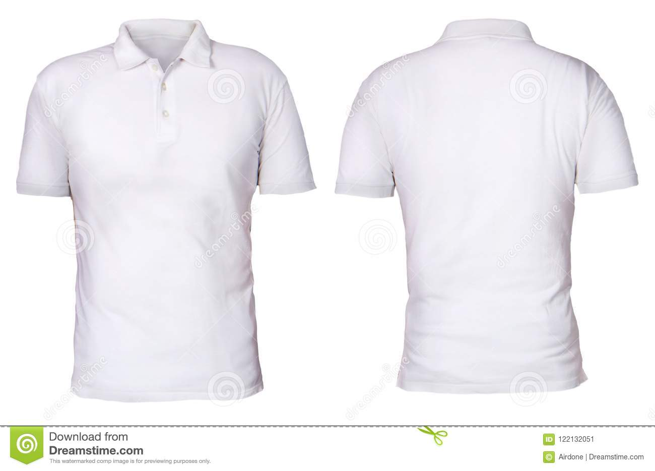 Polo Shirt Template Mock Up Stock Image Image Of Back People