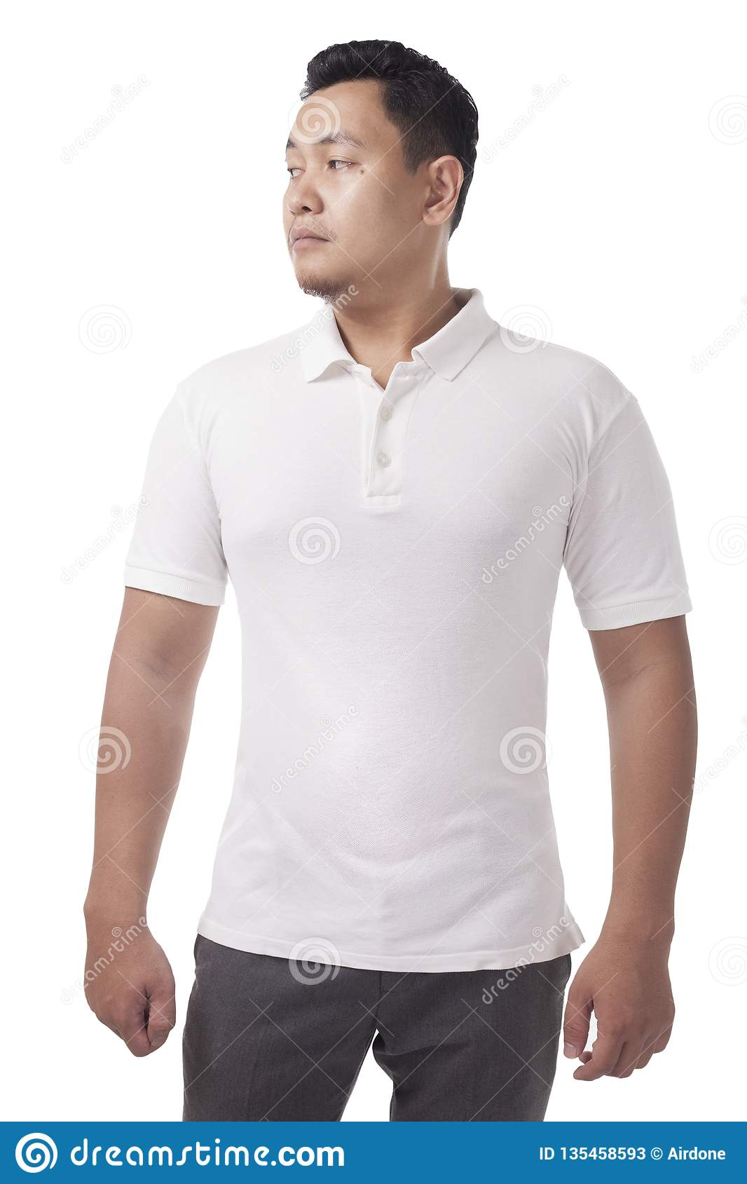 Polo Shirt Template Mock Up Stock Image Image Of Model