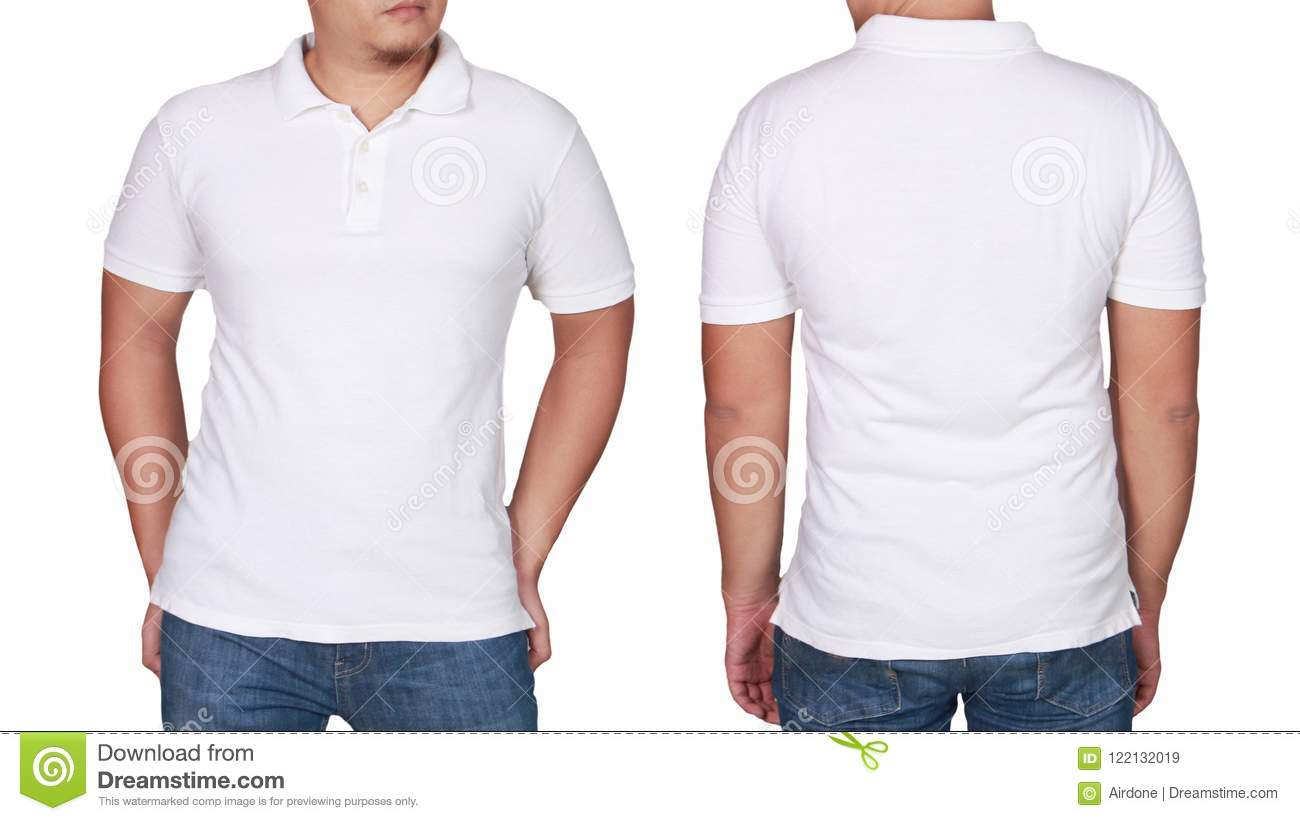 Polo Shirt Template Mock Up Stock Image Image Of Design Sleeve
