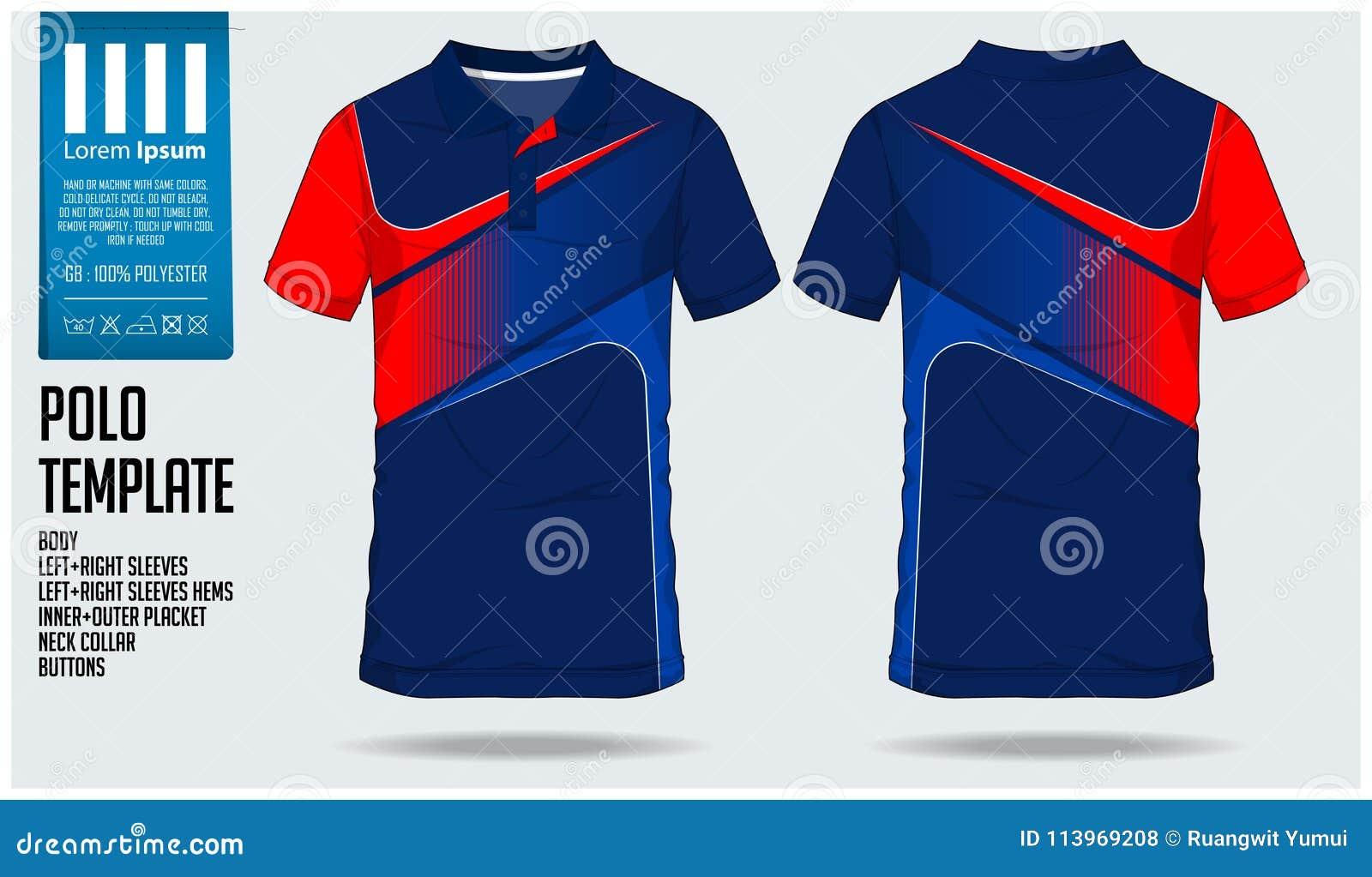 Polo t sporta projekta koszulowy szablon dla piłki nożnej bydła, futbolowego zestawu lub sporta klubu, Bawi się mundur w frontowy