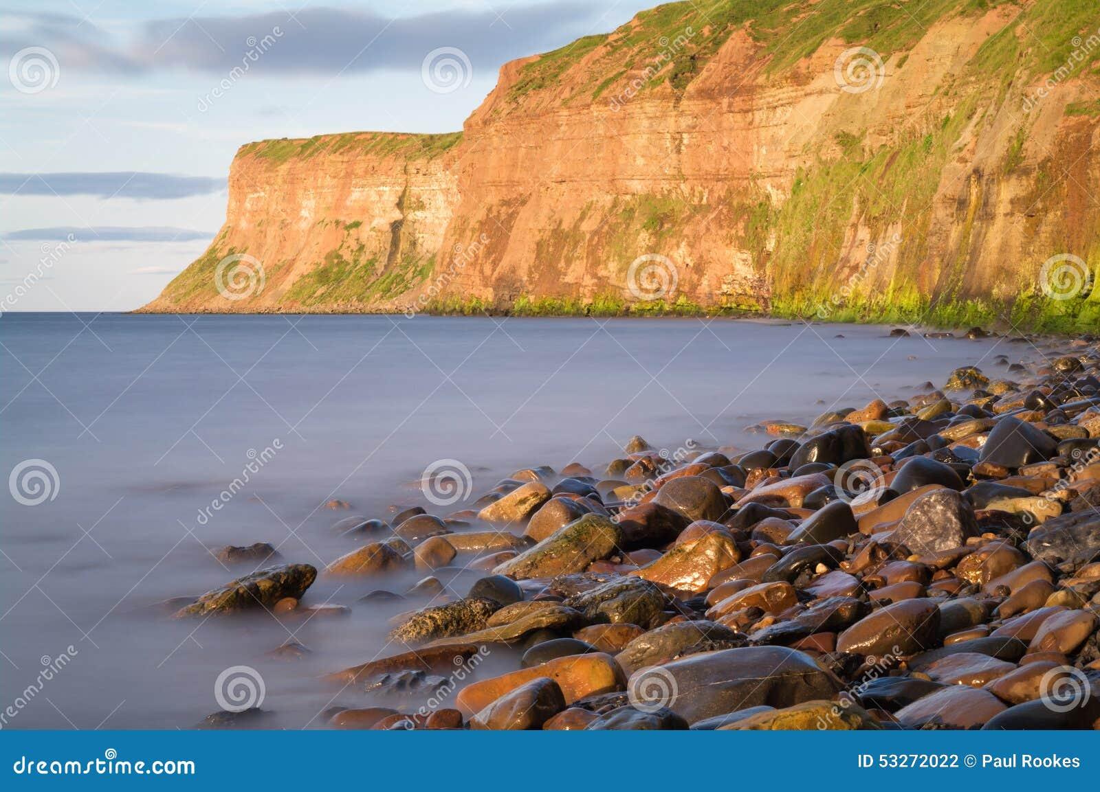 Polowanie faleza - - Huntcliff, Saltburn, Saltburn morze -