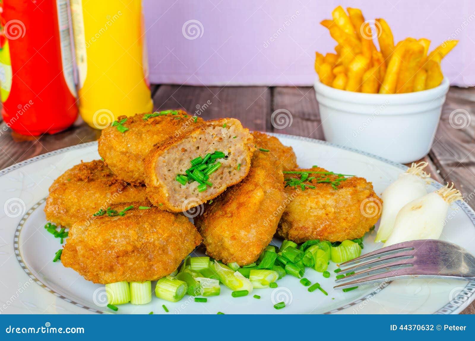 Polpetta impanata con coriandolo ed aglio