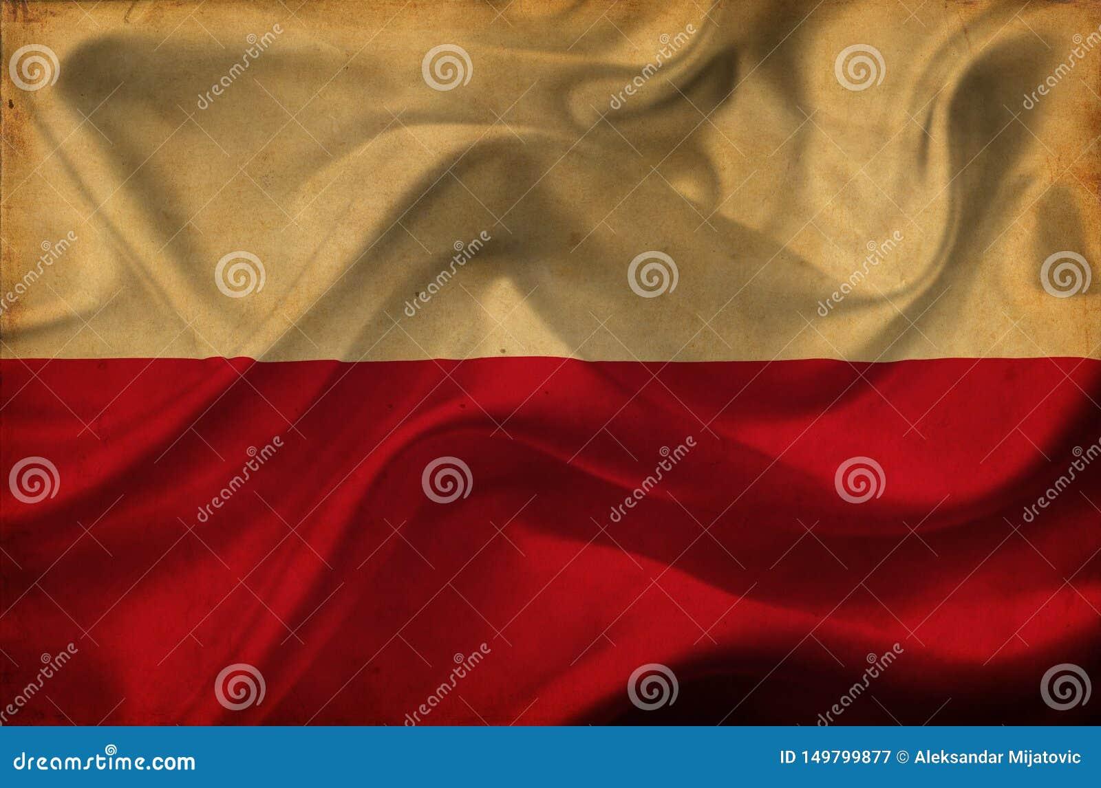 Polska falowania flaga