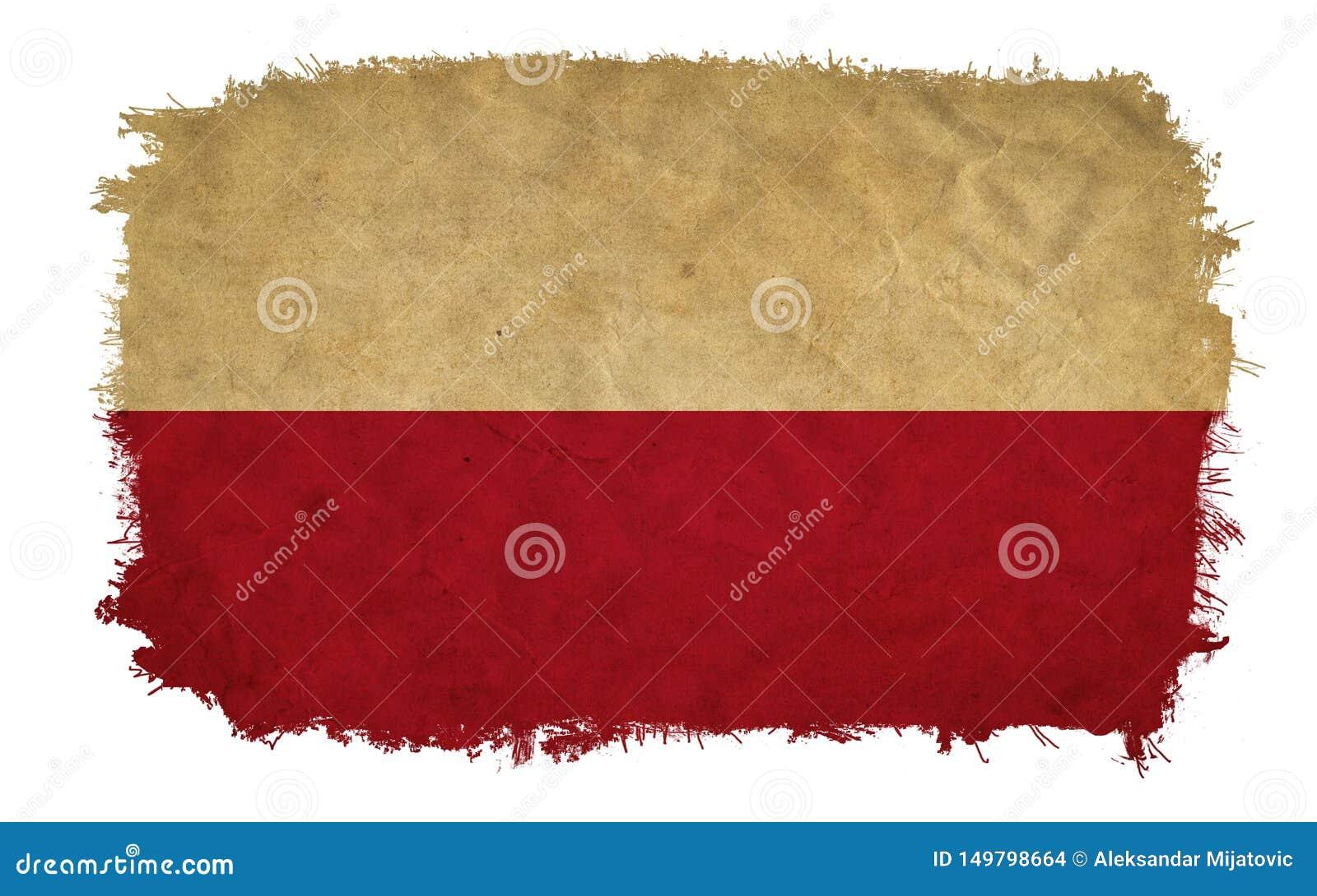 Polska grunge flaga