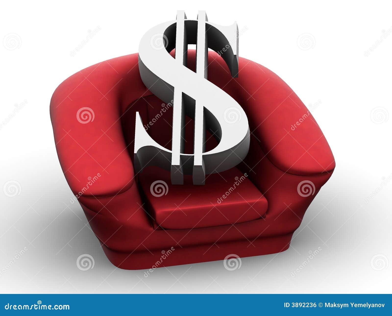 Poltrona con il dollaro