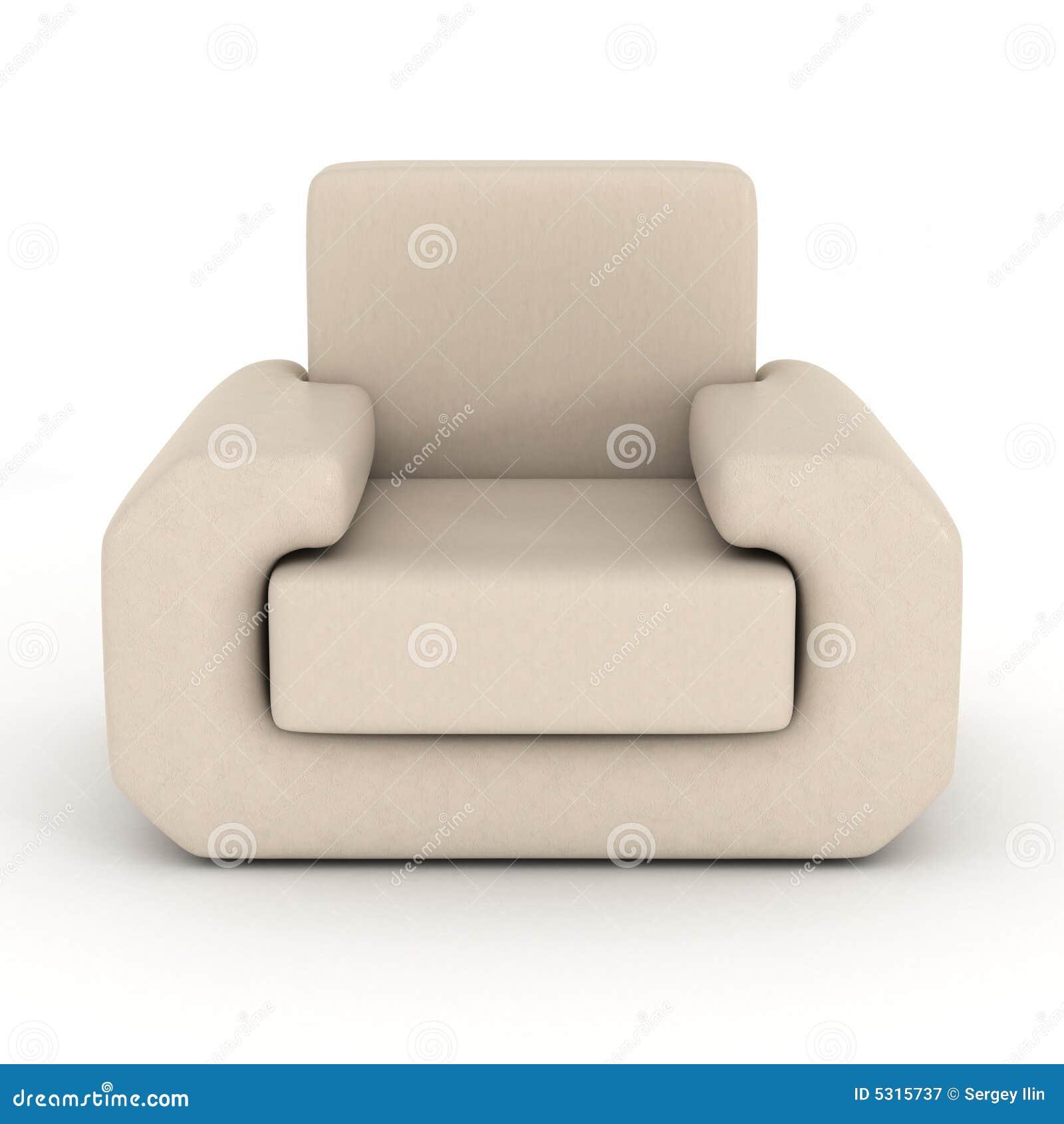 Download Poltrona Di Cuoio Su Una Priorità Bassa Bianca. Illustrazione di Stock - Illustrazione di pavimento, cuscino: 5315737
