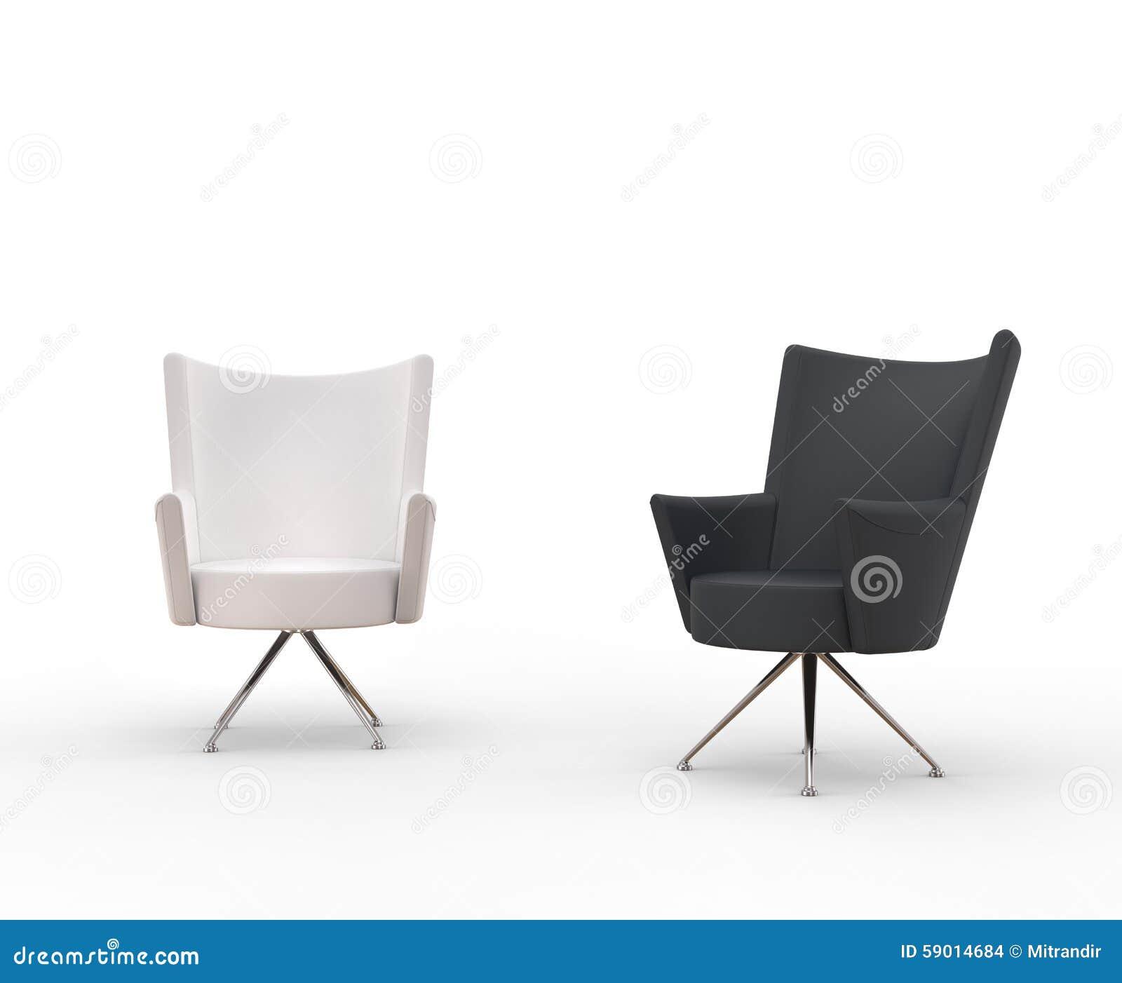 Poltrone Moderne - Bianco Ed Il Nero Fotografia Stock - Immagine: 59014684