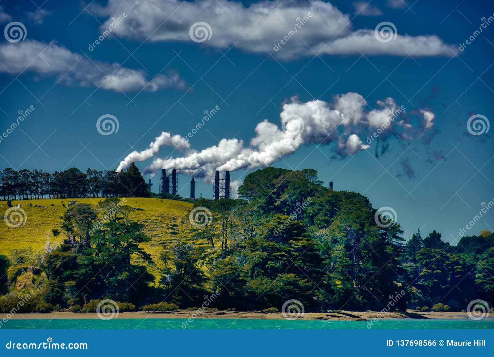 Poluição da fábrica
