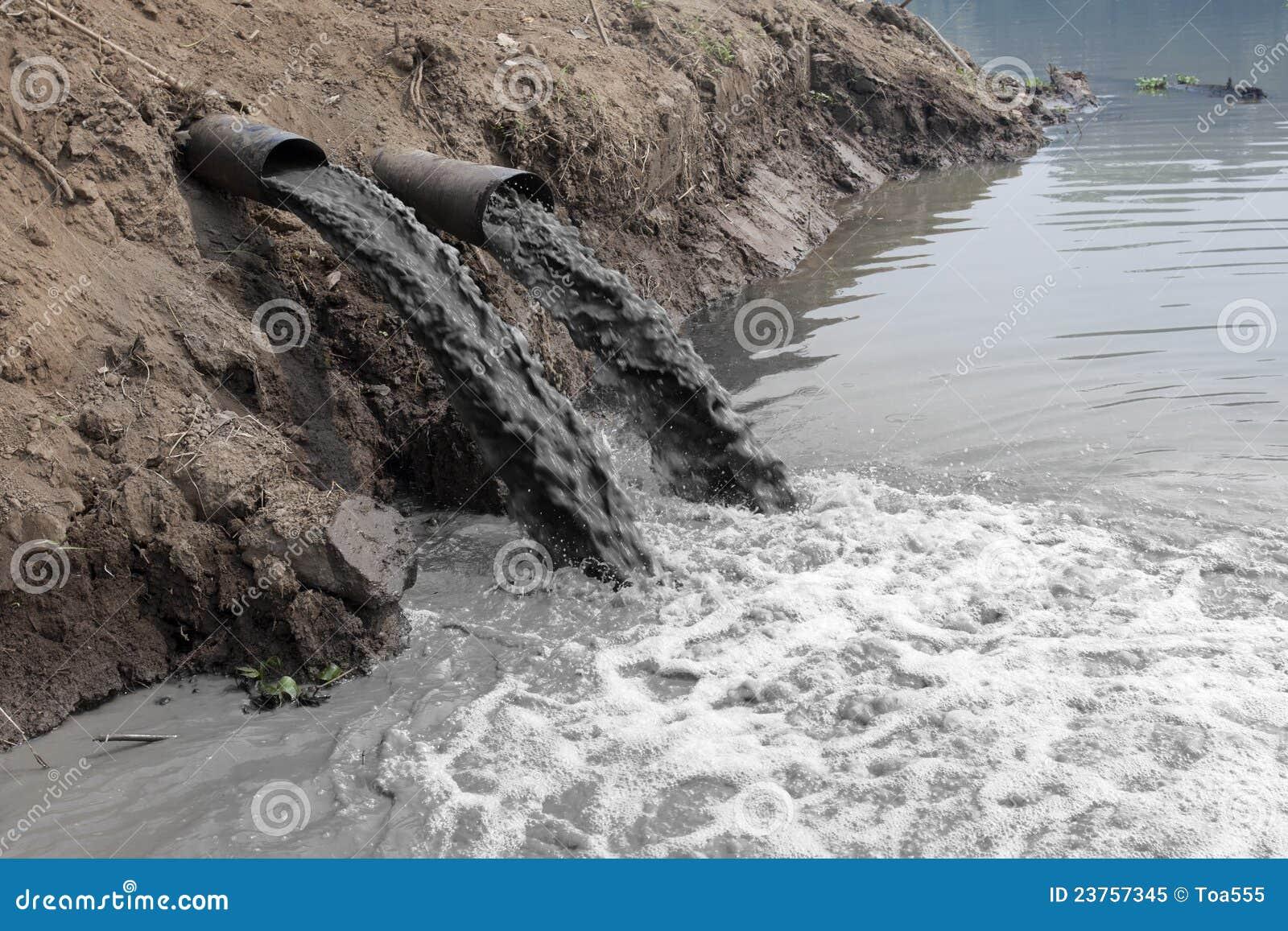 Poluição de água