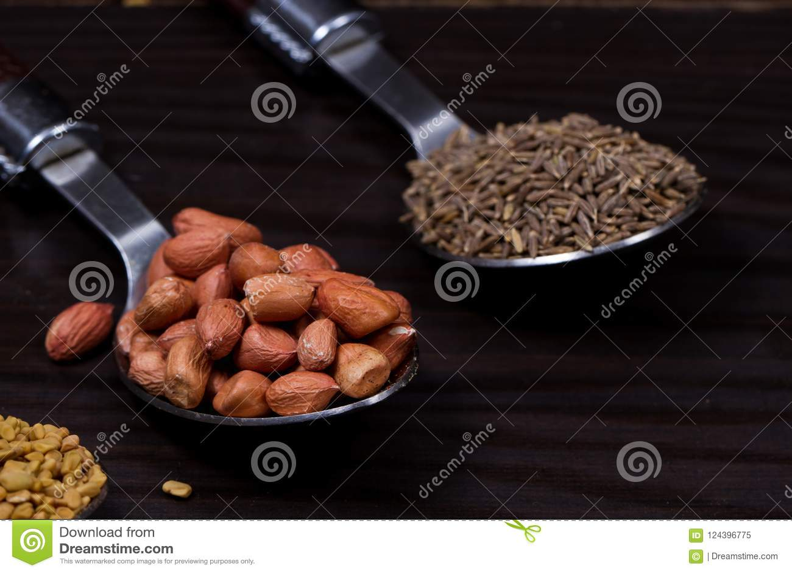 Polvo indio de la comida