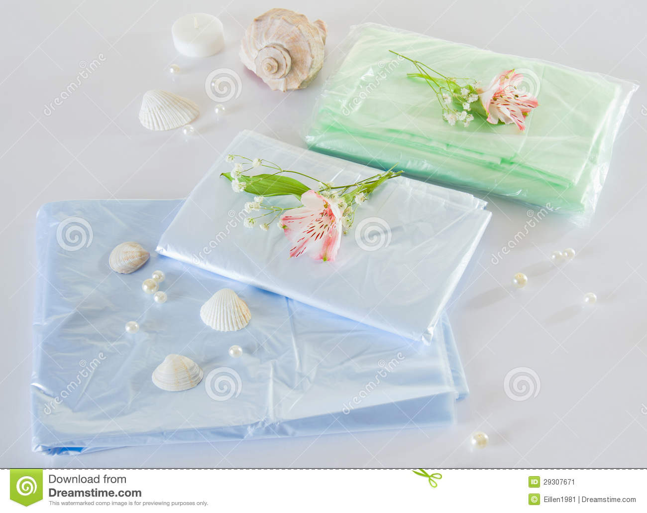 Polyethylene Sheet For Spa Or Clinic Royalty Free Stock