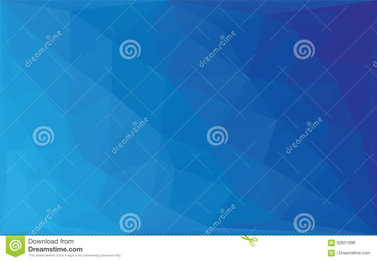 Polygon Abstract mosaic vector background, Triangular low poly style blue gradient illustration graphic background