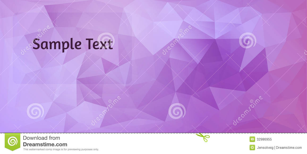 Purple Polygonal Abstract Background: Polygon Design Stylized Vector Abstract Background Stock