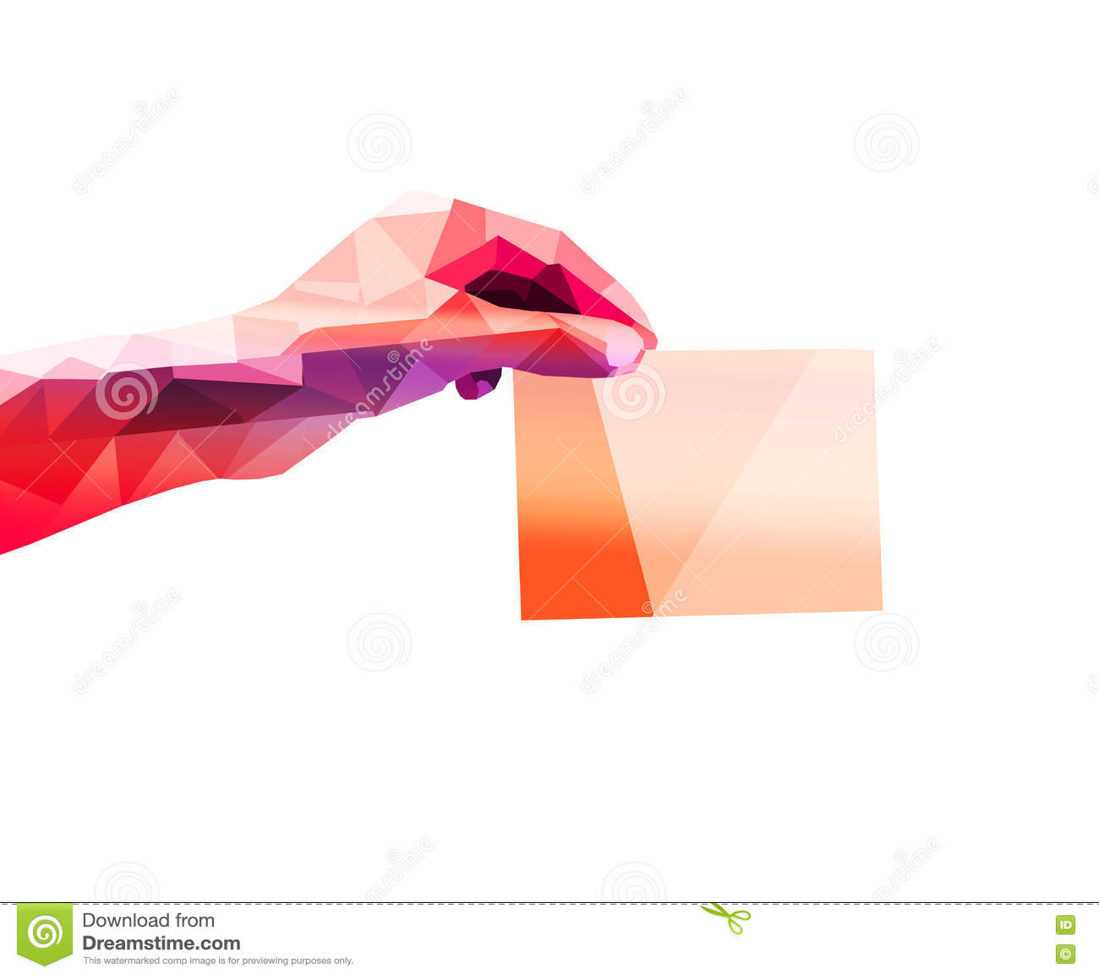 Polygon hand  stock illustration  Illustration of line - 78968003