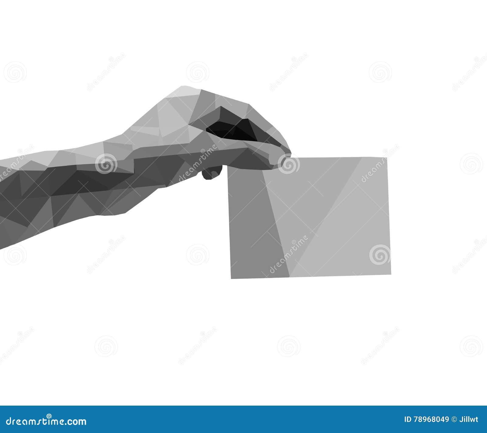 Polygon hand  stock illustration  Illustration of shape - 78968049