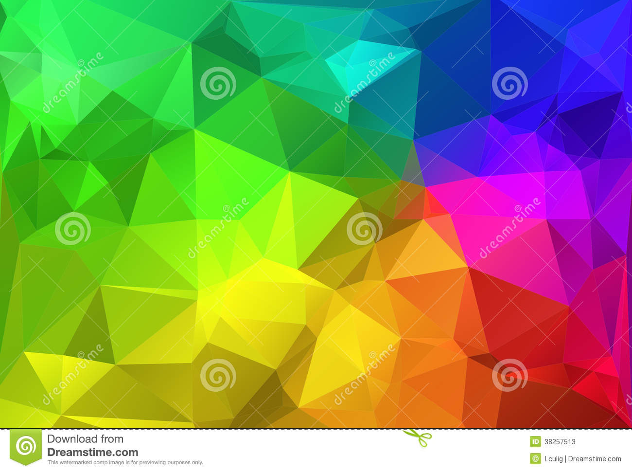 Polygon Triangle Abstract Background Colorful Rainbow Stock