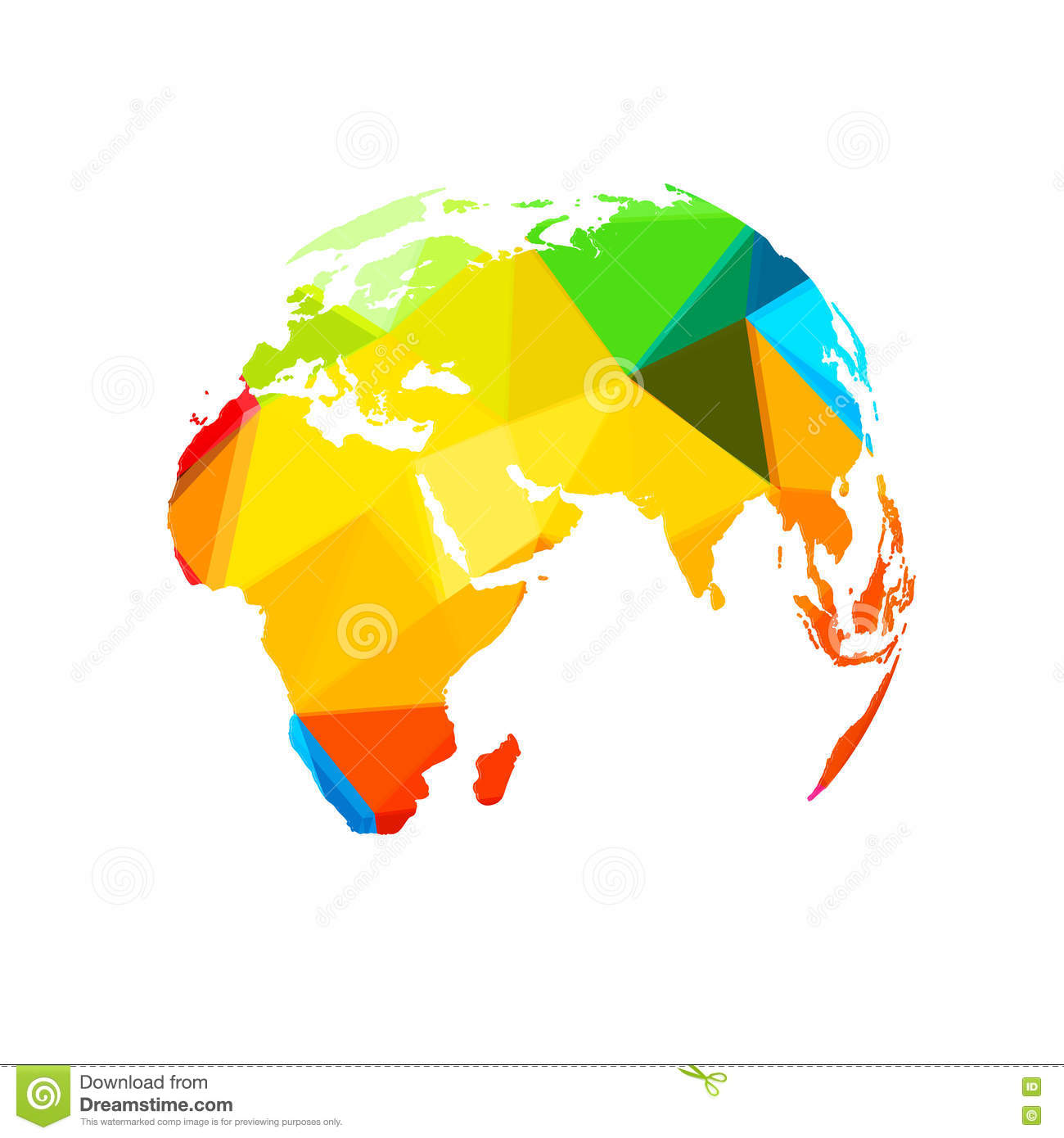 Polygon world map globe template stock vector illustration of polygon world map globe template royalty free vector download gumiabroncs Image collections