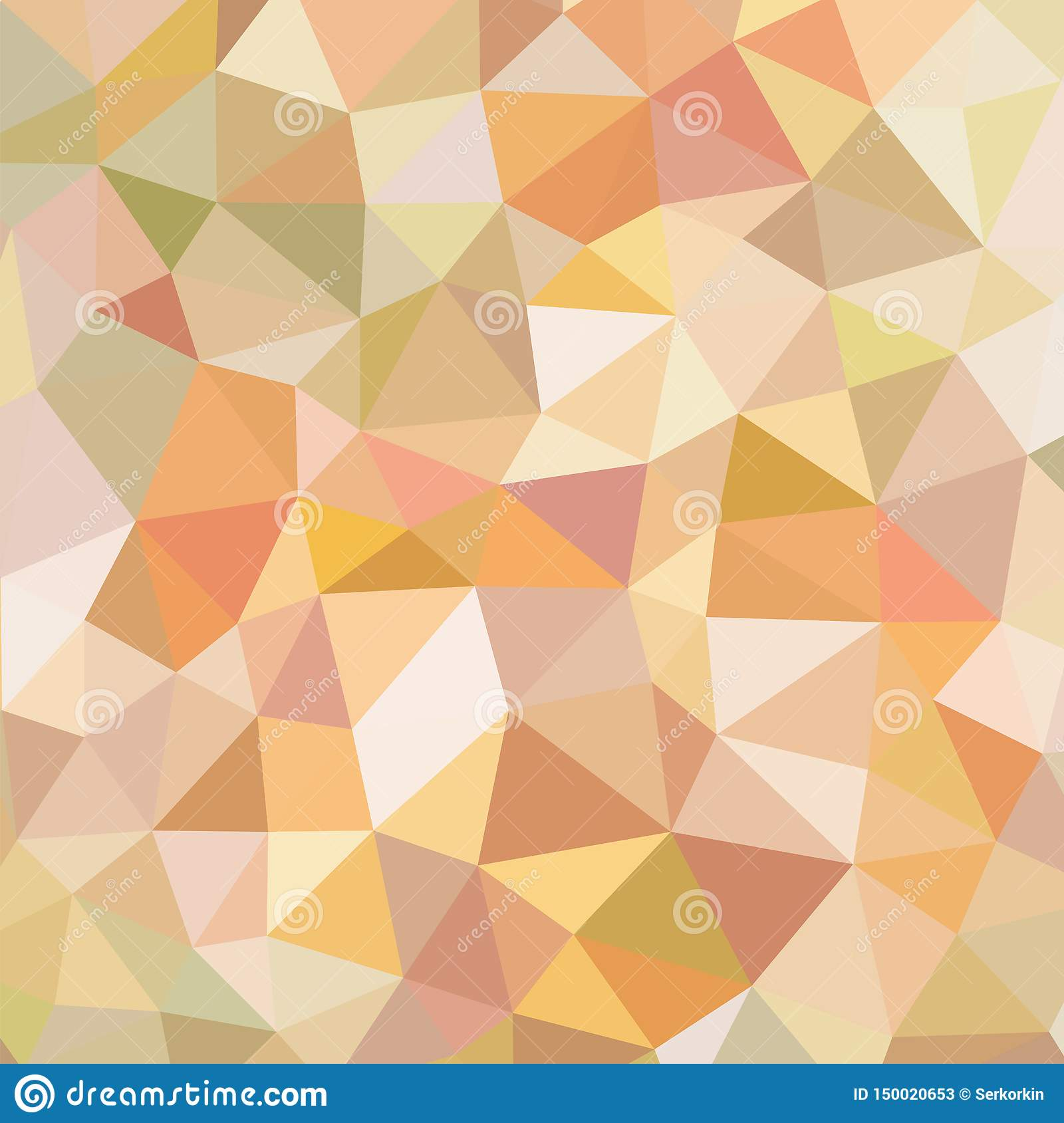 polygonal abstract background vector pattern orange brown beige colors geometric backdrop web site wallpaper polygonal abstract 150020653