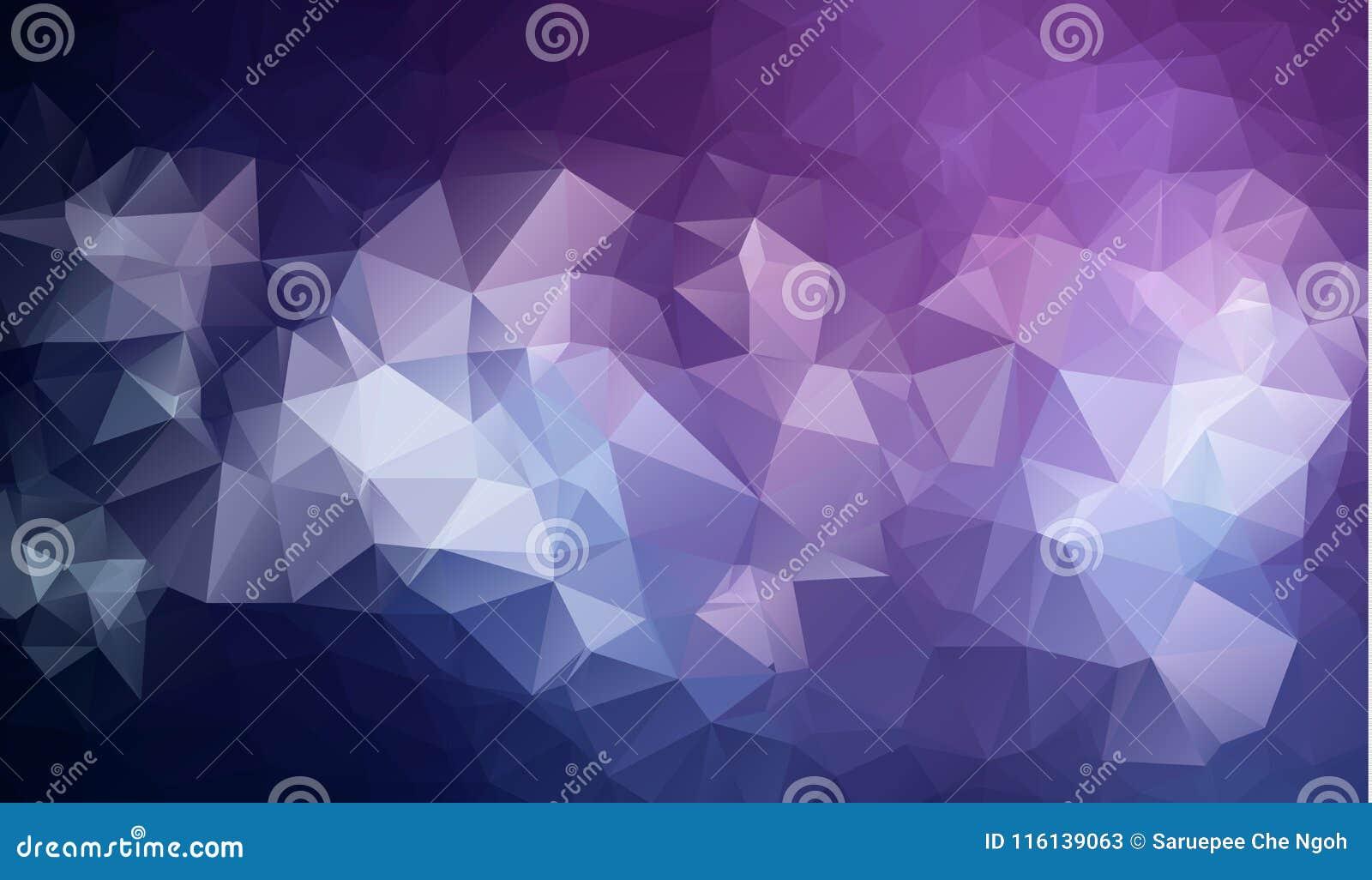 Polygonal abstrakt bakgrund för triangelmosaik lågt också vektor för coreldrawillustration