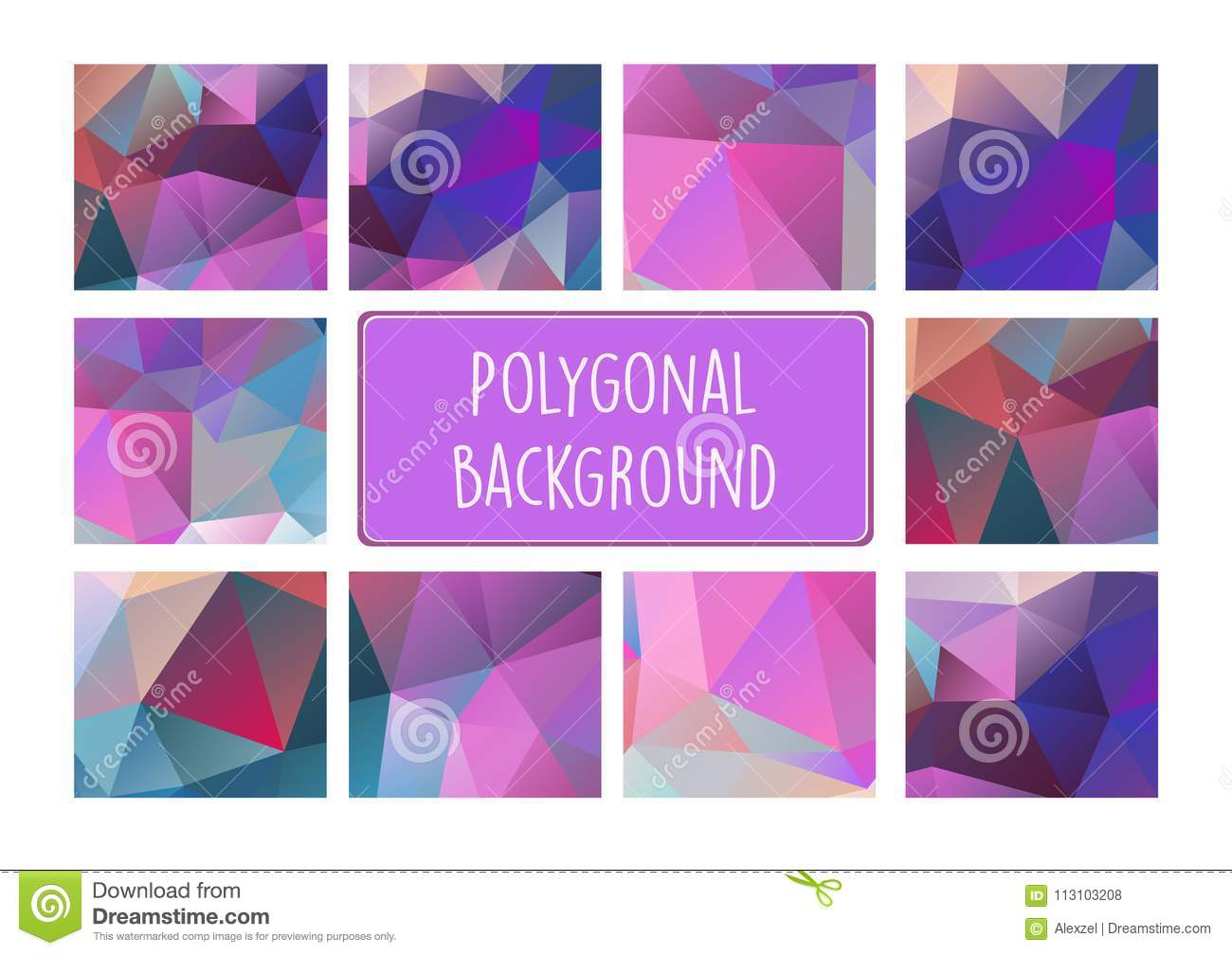 Polygonal Background For Craft Stock Vector Illustration Of Mosaic