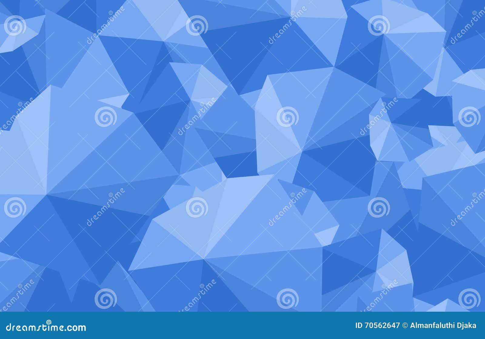 Polygonal Blue Umbrella Art Background