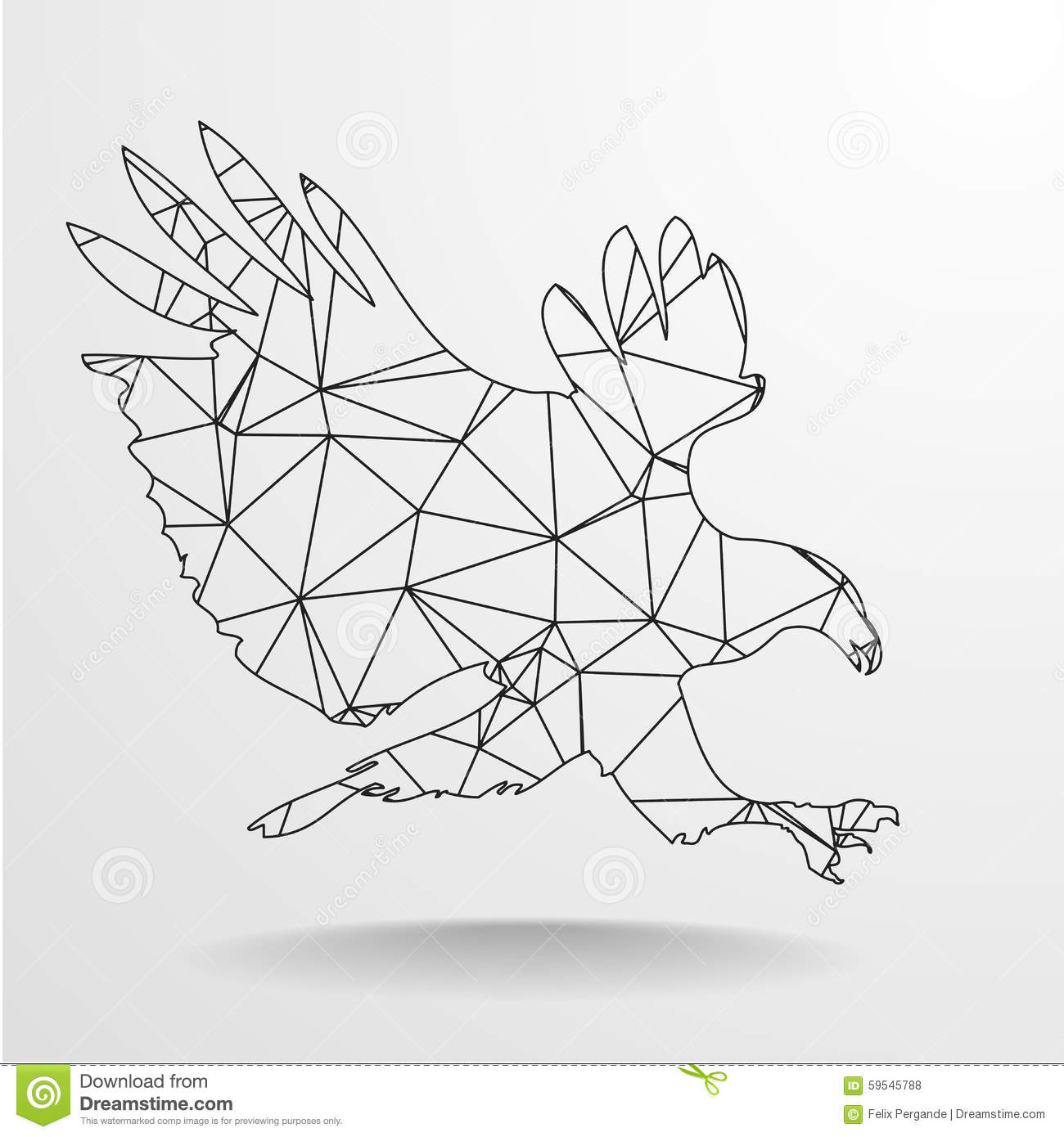 Polygonal Eagle... Abstract Line Pattern Vector