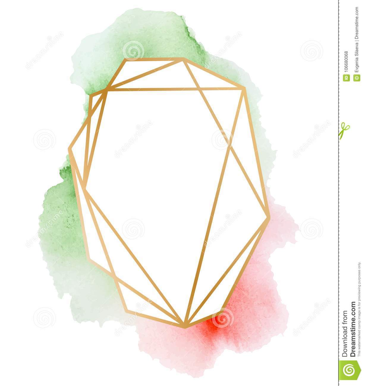 fbc6bc6c4b3 Polygonal Frames Set. Gold Glitter Triangles