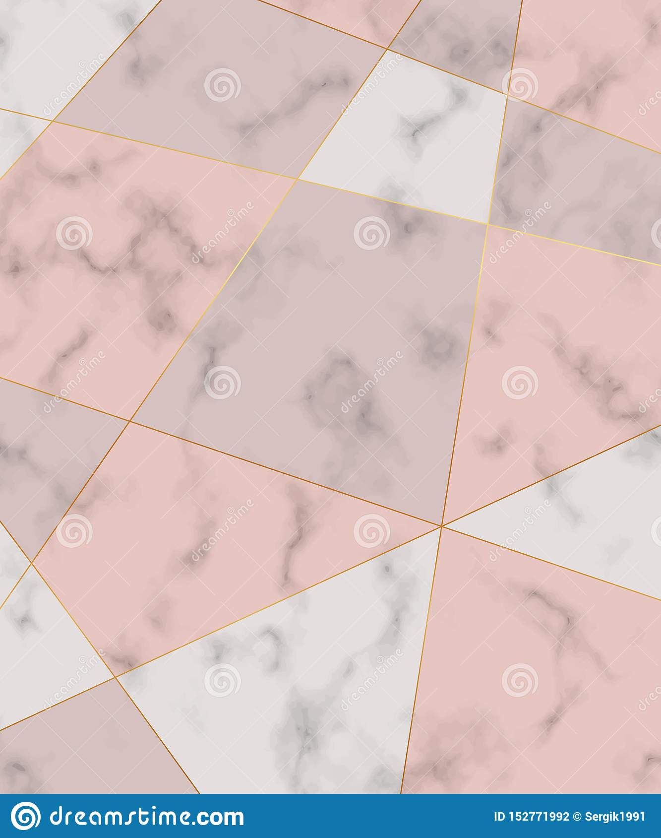Polygonal lines with geometric design on the marble texture. Trendy background for wallpaper, flyer, poster, card, invitations.