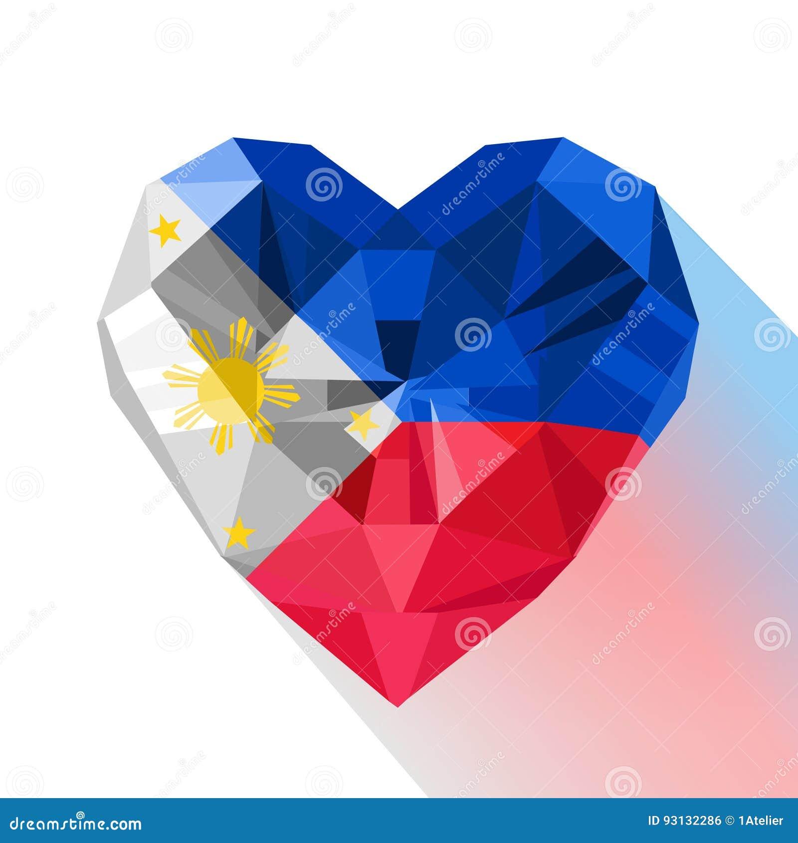 Polygonal logo symbol of love philippines stock vector polygonal logo symbol of love philippines buycottarizona Images