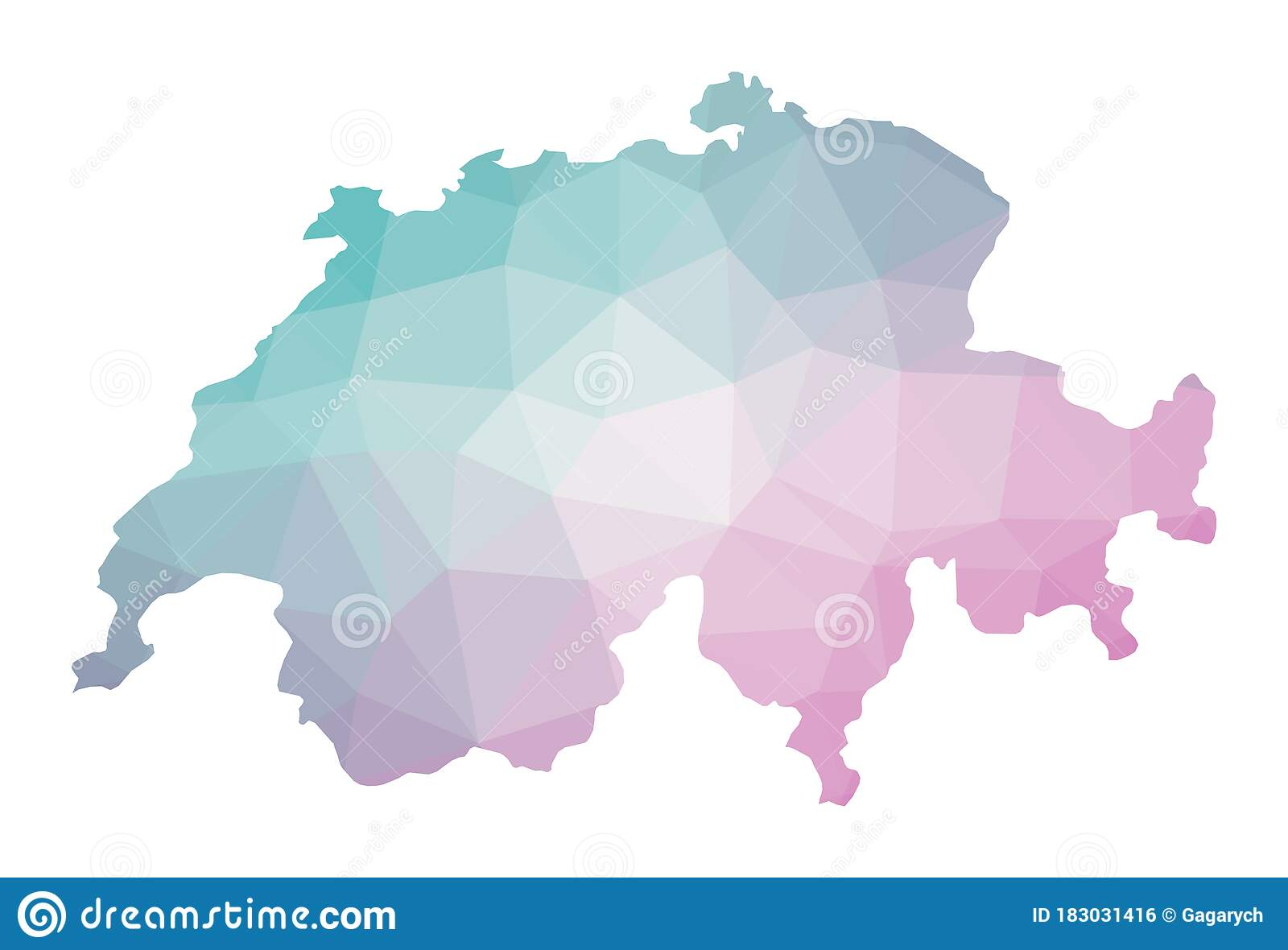 Picture of: Polygonal Map Of Switzerland Stock Vector Illustration Of Border Outline 183031416