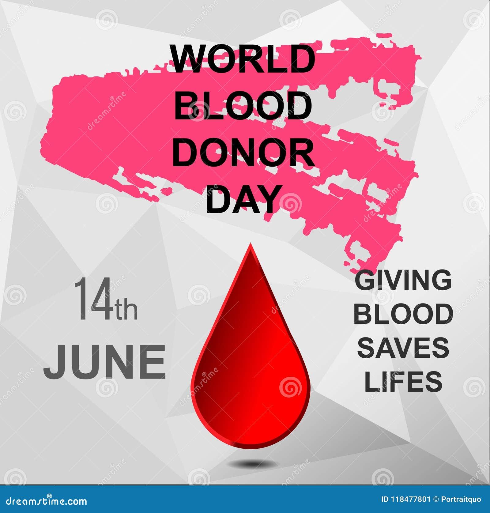 Download Polygonal Postcard World Blood Donor Day Stock Illustration - Illustration of concept, banner: 118477801