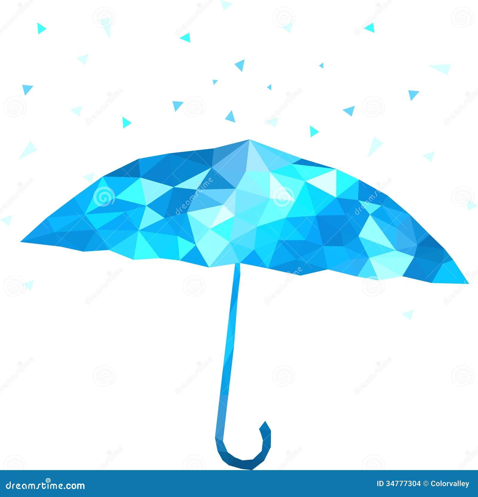 Polygonal Umbrella Vector Illustration Stock Images