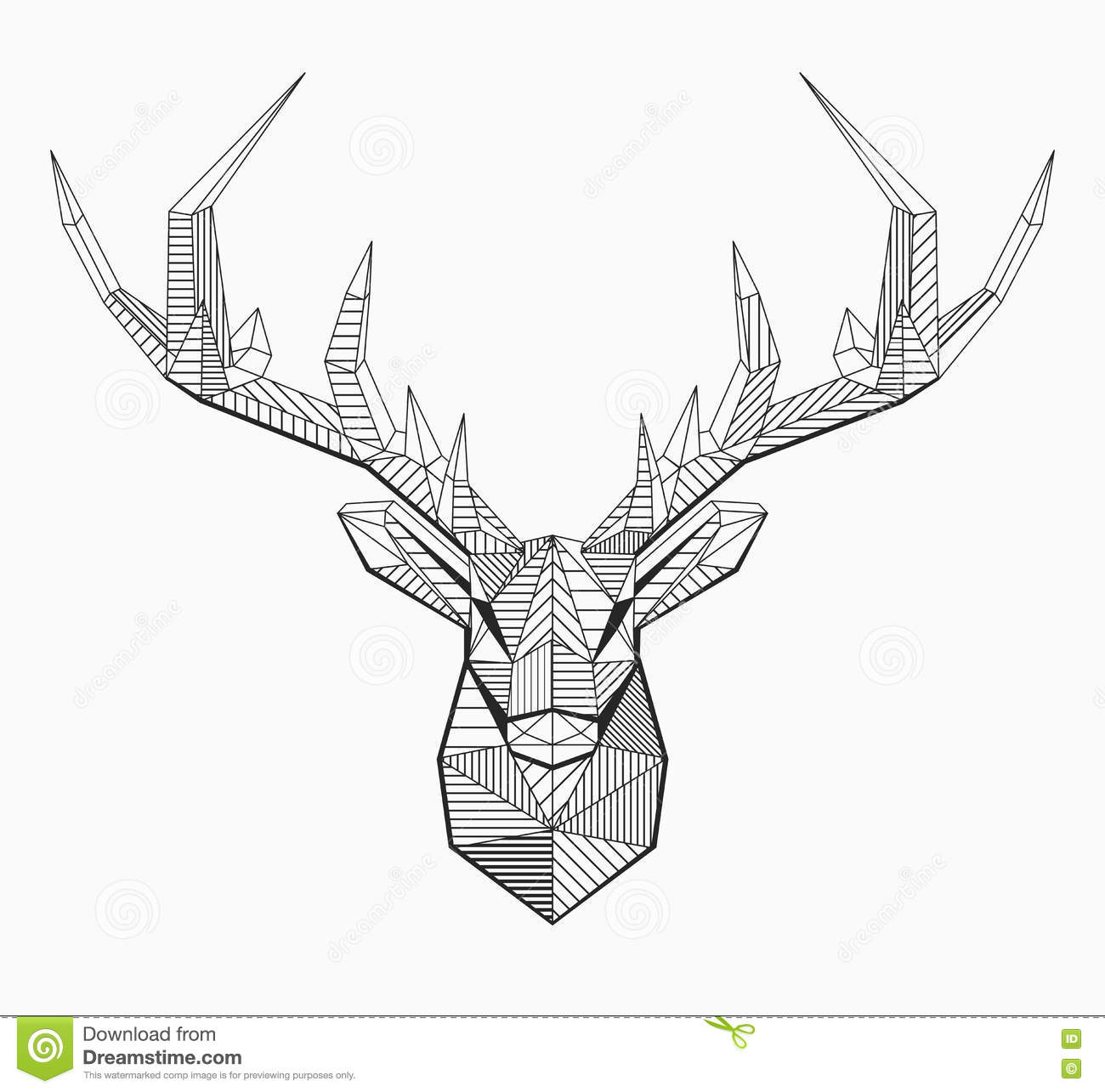 Line Drawings Of Animals Deer : Polygonal vector line deer cartoon cartoondealer