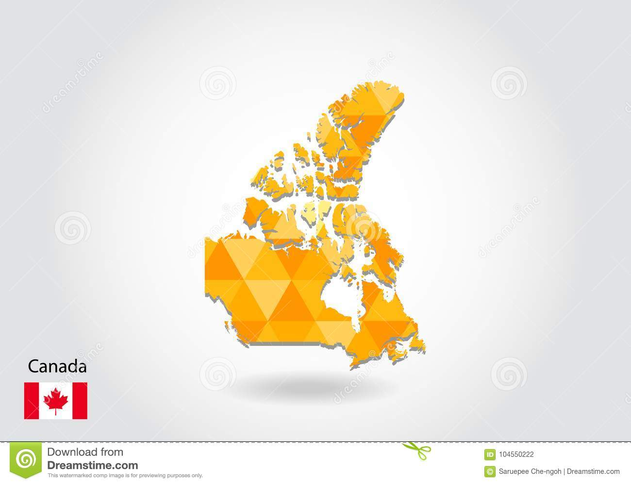 Map Of Canada Eps.Polygonal Vector Map Of Canada Stock Vector Illustration Of Eps8