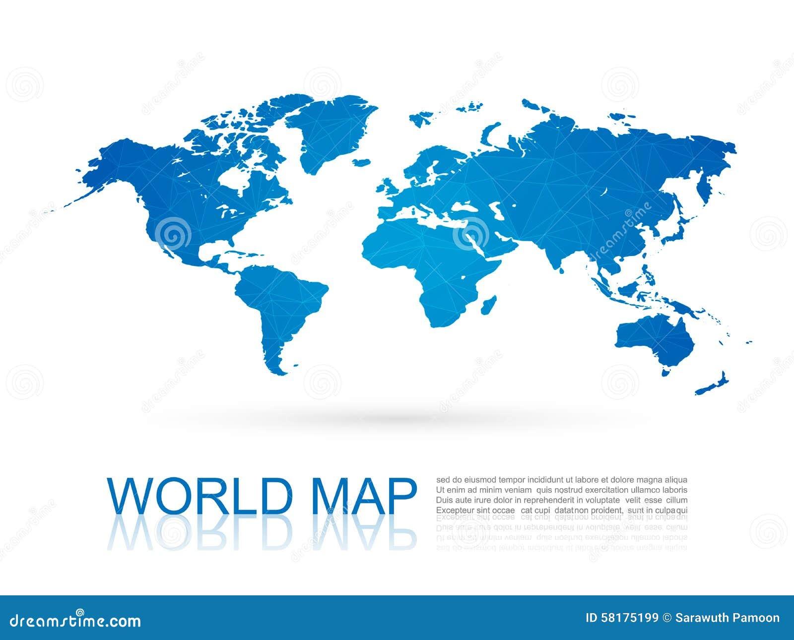 Polygonal world mapvector stock vector illustration of australia download polygonal world mapvector stock vector illustration of australia 58175199 gumiabroncs Images
