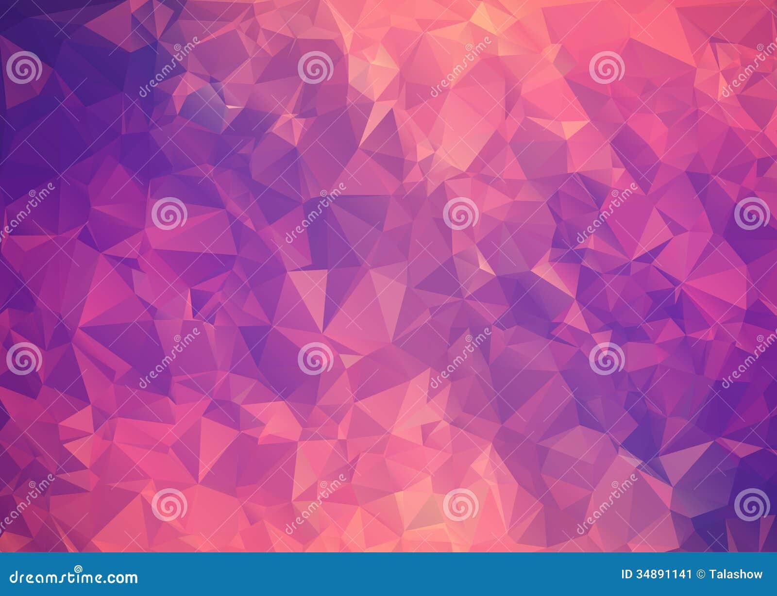 Polygone abstrait rose pourpre de fond.