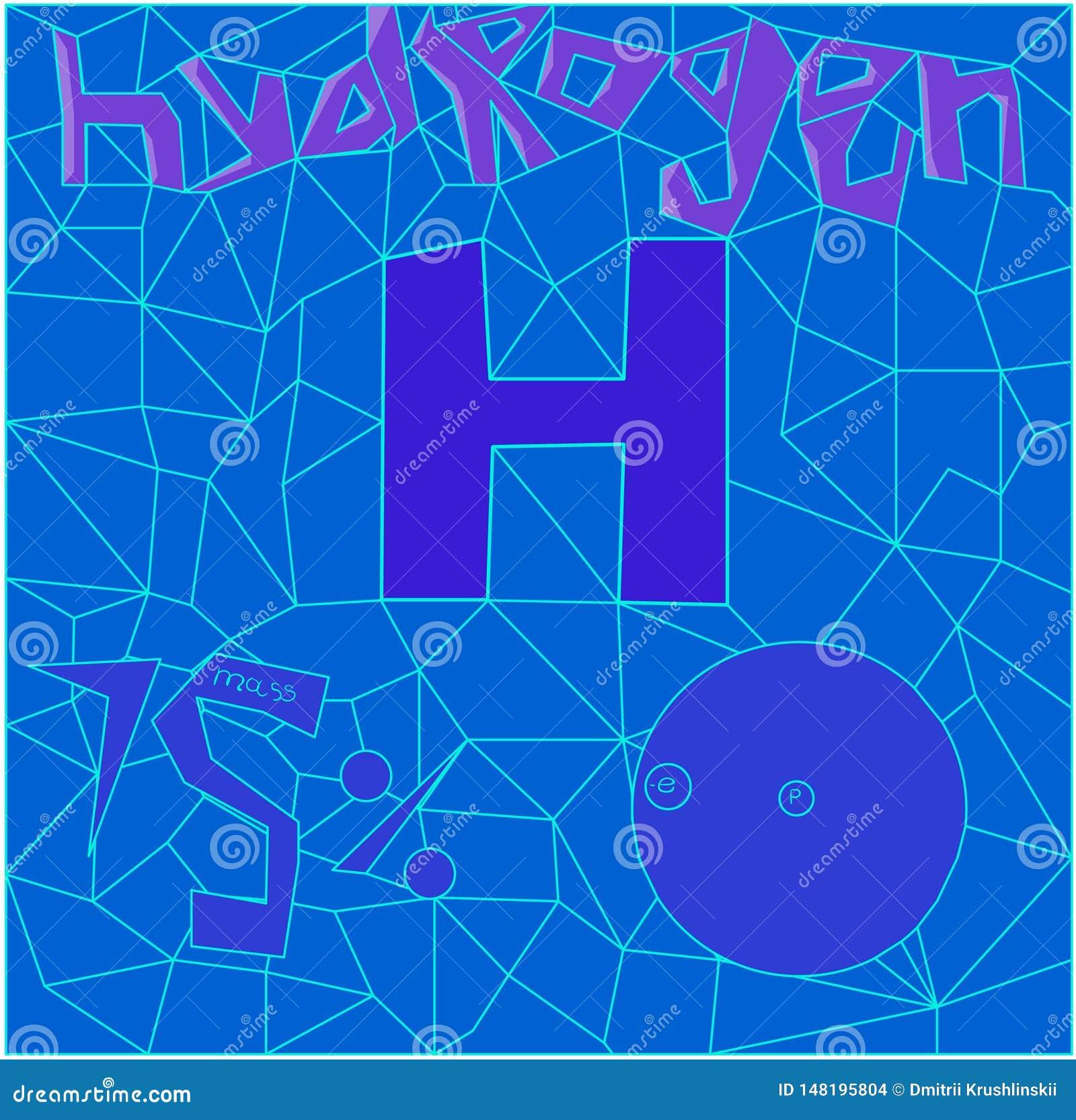 Polygone bilden den Wasserstoff des chemischen Elements
