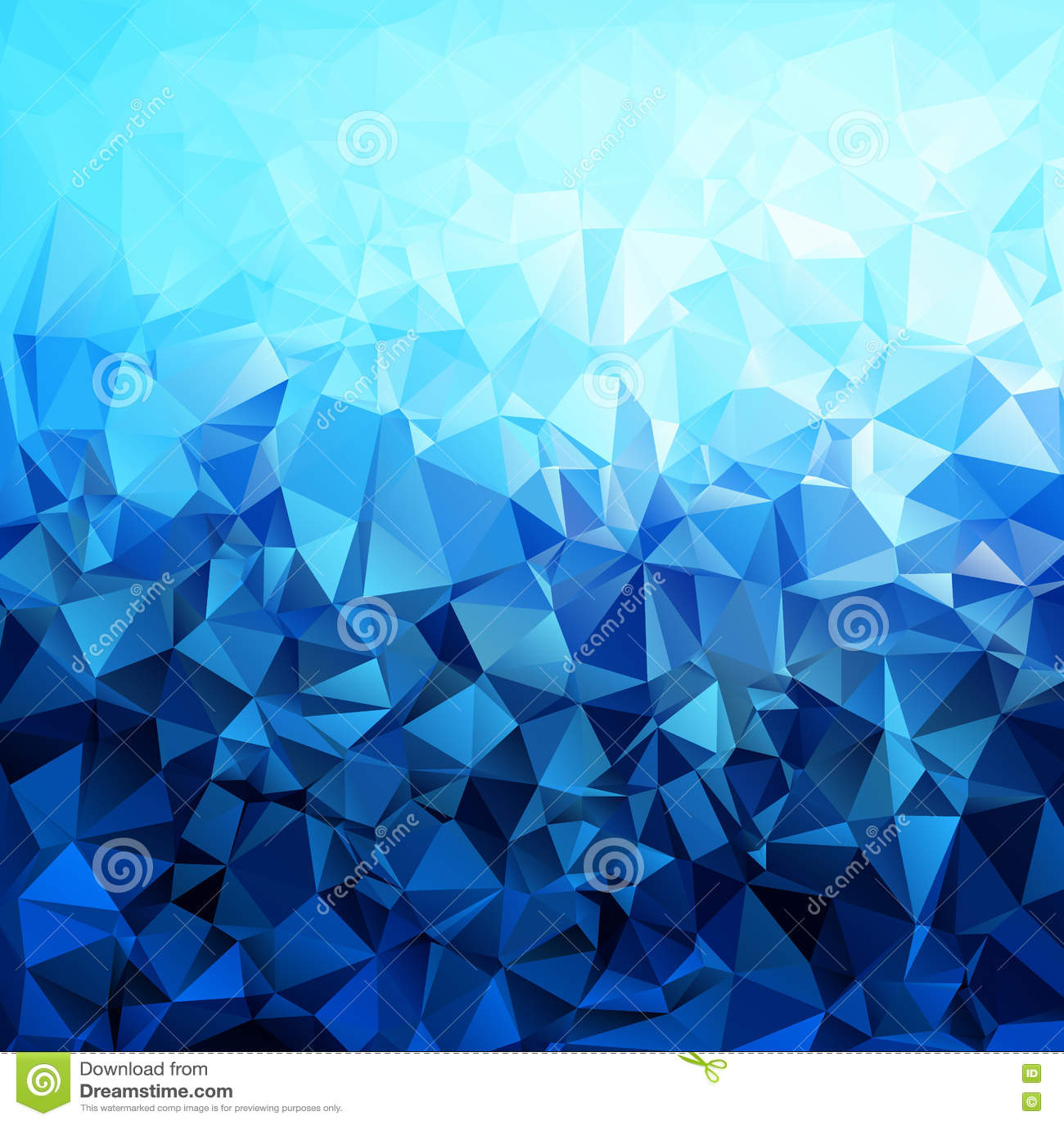 Polygone Bleu Abstrait De Gradient Formé Illustration De Vecteur