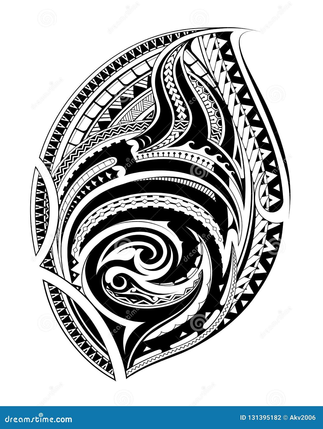 feb6210588f9c Polynesian ethnic style ornament. Good for chest or sleeve tattoo design