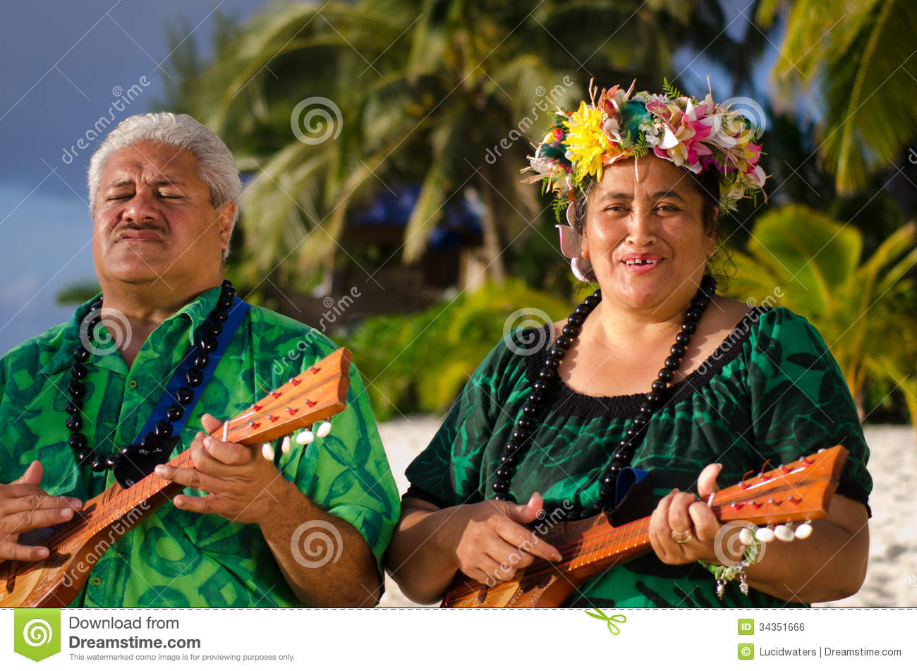 Pacific Islander Song Happy Ukulele