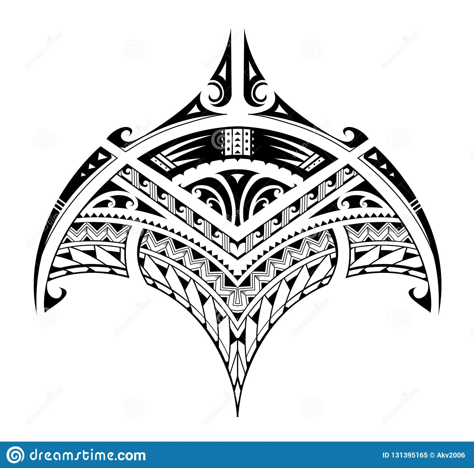 Polynesian Ethnic Style Tattoo For Bicep Area Stock Vector