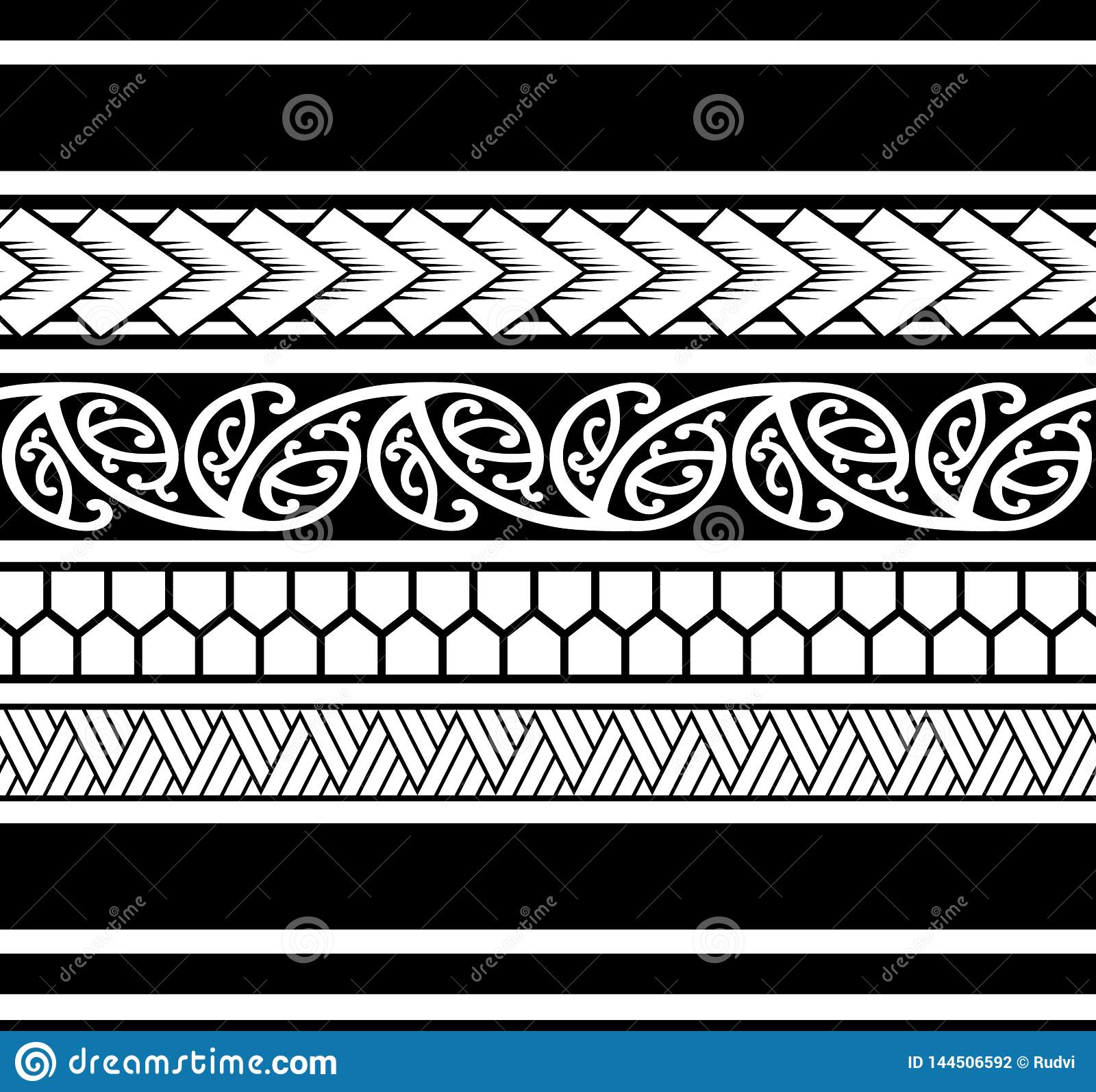 Polynesian Tattoo Sleeve Pattern Samoan Sketch Forearm And Foot