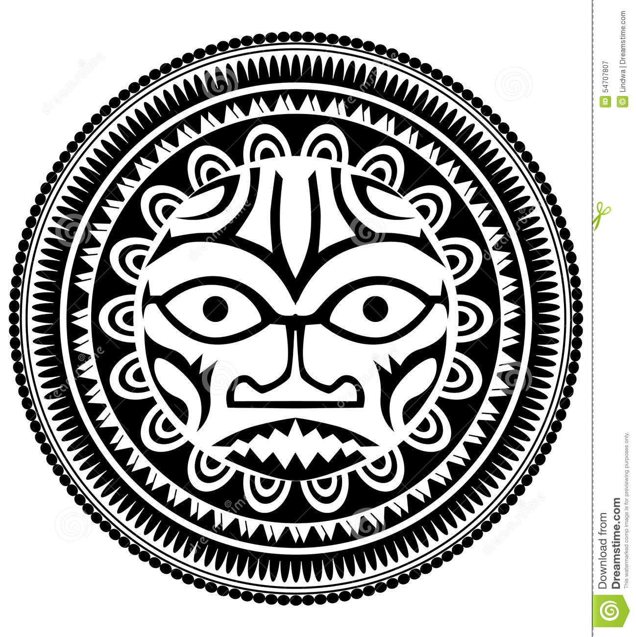 Polynesian tattoo stock vector. Illustration of hawaii - 54707807